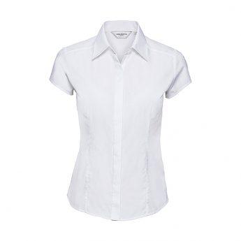 """Ženska srajca kratki rokav – """"Poplin"""" – telirana"""