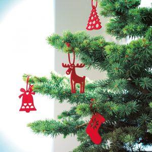 Komplet 6 obeskov za božično drevesce