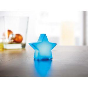PVC LED barvna luč v obliki zvezde