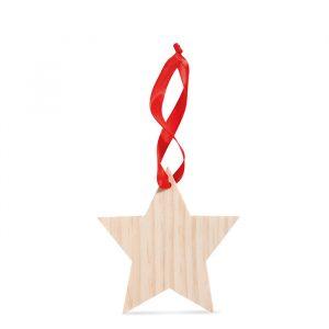 Leseni obesek v obliki zvezde