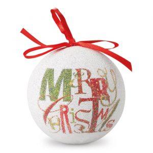 Božična krogla v biserni barvi