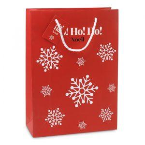 Elegantna darilna papirnata vrečka z vzorcem snežink L
