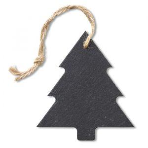 Božični obesek iz skrilavca v obliki smrečice