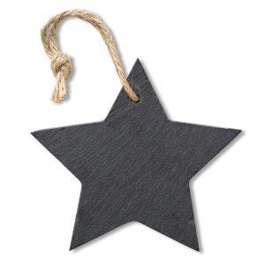 Božični obesek iz skrilavca v obliki zvezde