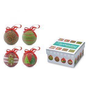 Set 4-ih božičnih kroglic