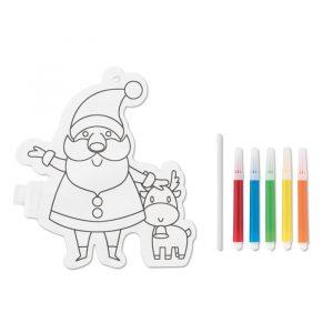 Božiček balon – pobarvanka