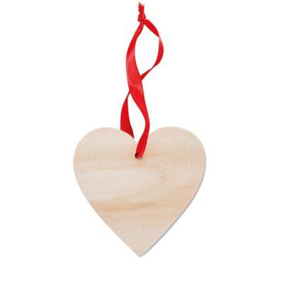 Leseni okrasek v obliki srca