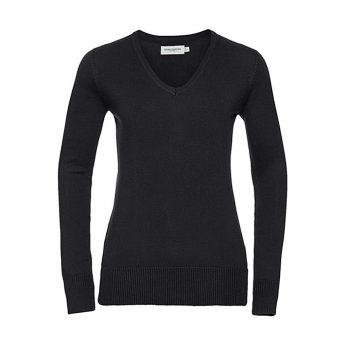 """Ženski pleteni pulover – """"V"""" izrez"""