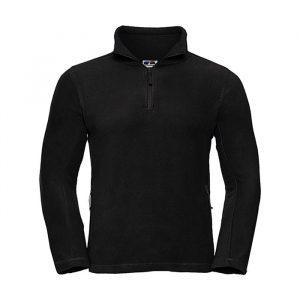 Moški termovelur pulover – 1/4 zadrga