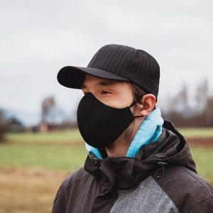 Higienska maska obojestranska – pralna – moška BLACKY M