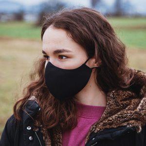 Higienska maska obojestranska – pralna – ženska BLACKY Ž