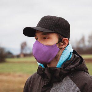 Higienska maska obojestranska – pralna – moška PURPLY M